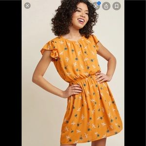 Peach Love Sz L Pterodactyl Dress NWT Modcloth